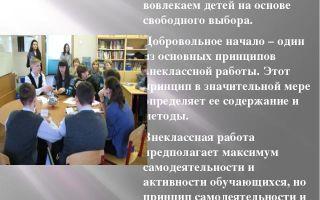 Формы внеклассной работы с учащимися: информация для учителя