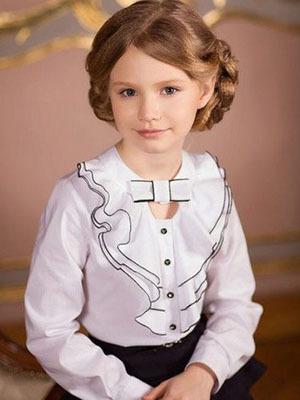 Школьные блузки для девочек: модные фасоны