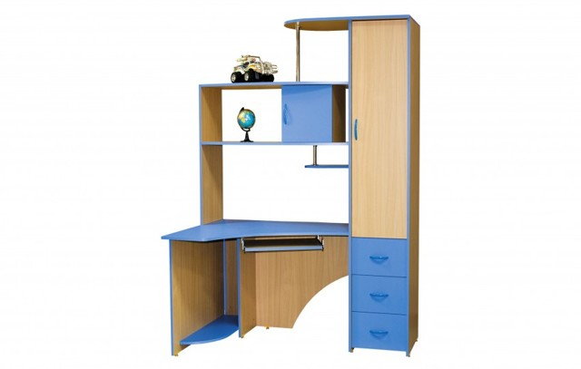 Уголок школьника угловой: подбираем необходимую мебель